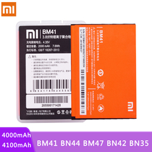 Original BM41 BN44 BM47 BN42 BN35 For Xiaomi Redmi 3 3S 3X 4 4X 1 1S 2 2A 5 Plus 5plus Lithium Polymer Hongmi 1S Batteries