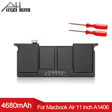 PINZHENG 4680mAh Laptop Battery For Apple MacBook Air 11'' A1465 2012 A1370 2011 Production Replace A1406 A1495 Replace Bateria