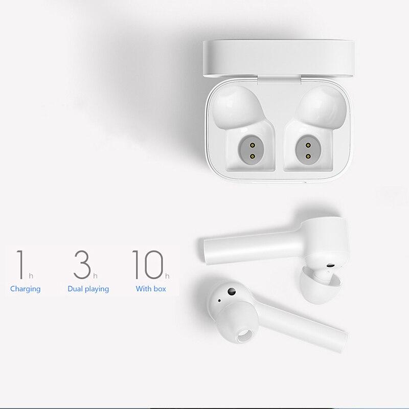 Original Xiao mi Airdots Pro mi Air Bluetooth écouteur Tws et commutateur HD Pause automatique contrôle du robinet pour IOS téléphone Android livraison directe - 2