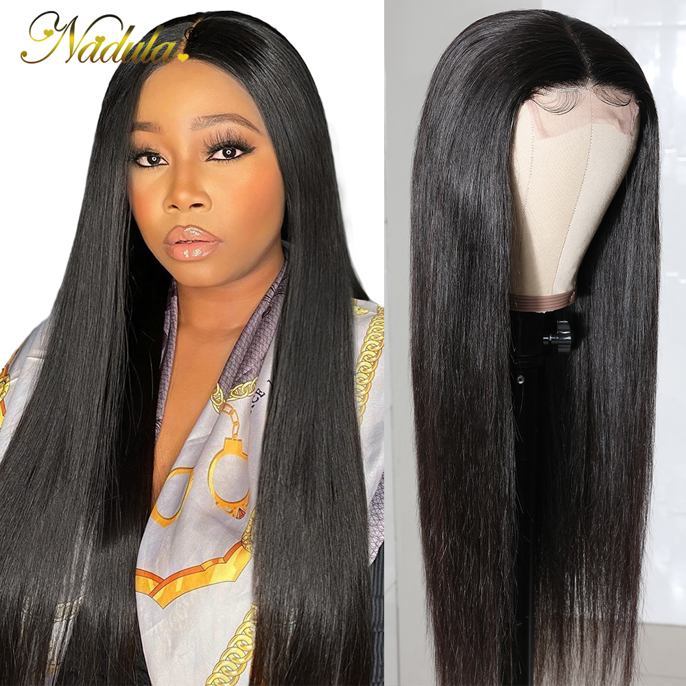 Nadula Hair Straight Lace Part  Wigs  Realistic Scalp Lace Wigs  Straight T Part Lace Wig No Knots 1