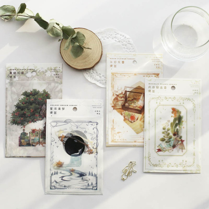 30 Sheets Translucent Paper Memo Pad Sticky Notes Escolar Papelaria School Supply Bookmark Notepad Label