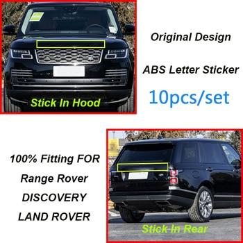 10pcs/set For RANGE ROVER DISCOVERY Letter Hood Trunk Logo Badge Sticker Front Hood Tailgate Lettering Badge Emblem Decal
