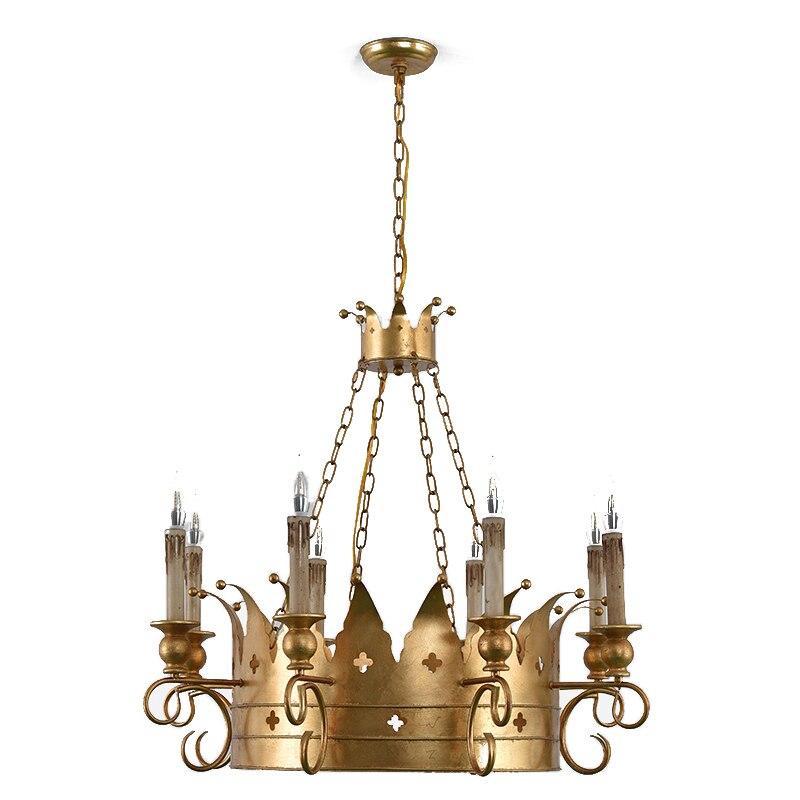 Gold crown chandelier lighting creative elegant design noble chandelier in  baby/kids room bedroom living room lustre foyer lamps Chandeliers  -  AliExpress