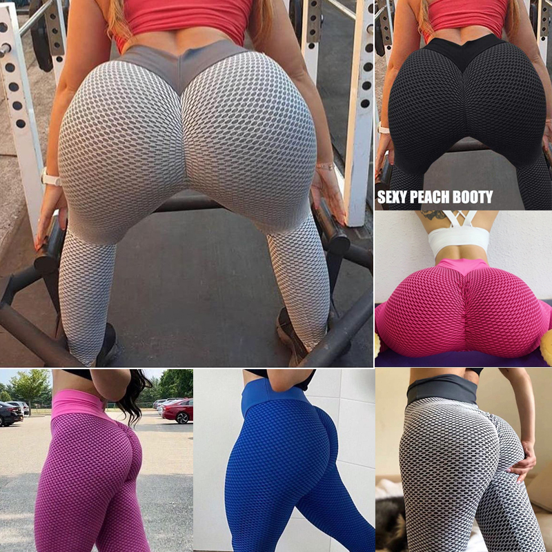 Sexy Women Leggings Bubble Butt Push Up Fitness Legging Slim High Waist Leggins Mujer Seamless Fitness Legging Workout Pants