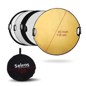 Image 5 - Selens 110CM 5 in 1 reflektör fotoğraf taşınabilir ışık reflektörü taşıma çantası ile fotoğrafçılık için fotoğraf stüdyosu aksesuarları