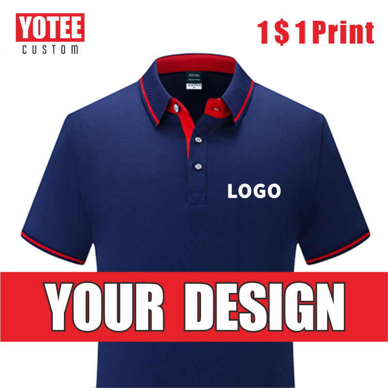 YOTEE 2019 Summer Multi-stylecustom Breathable POLO Shirt Men's LOGO Custom Top