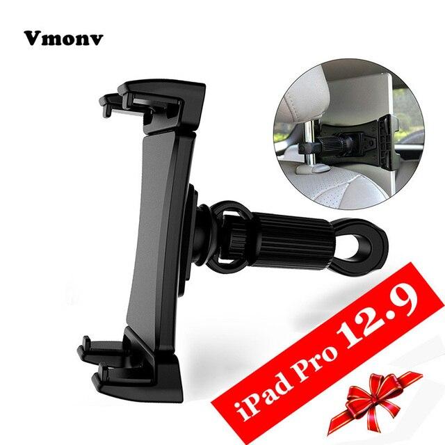 Vmonv Tablet Car Holder For iPad Pro 12.9 Adjustable Car Headrest Stand Back Seat Bracket Mount For 4.7 13 inch Mobile Phone PC