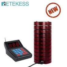 RETEKESS SU-668 Pager Restaurant Calling System Wireless Guest Paging Queuing Beeper for restaurant 10 Coaster Pagers