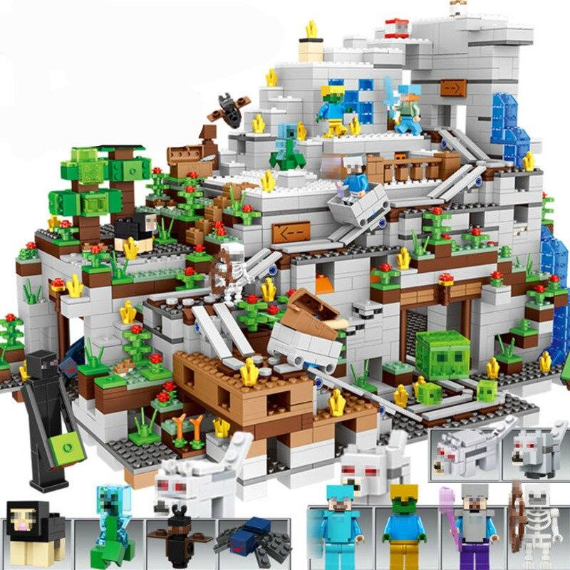 696.61руб. 23% СКИДКА|Креативные модели «сделай сам», «Мой мир», строительные блоки, Legoingly, деревенский дом на дереве, водопад, кирпичи, развивающие игрушки для детей|Блоки| |  - AliExpress
