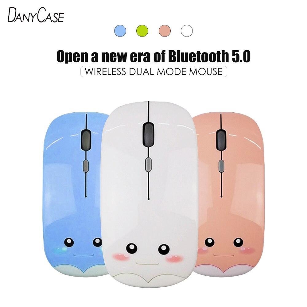 Drahtlose Bluetooth maus 5,0 USB Optische Computer Mini Dünne Maus 1600DPI Für Computer Xiaomi Huawei Lenovo iPad PC Zubehör