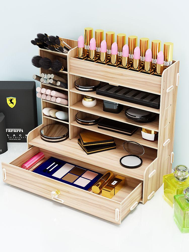 Makeup Brush Storage Tube Eyebrow Pencil Barrel Desktop Lipstick Cosmetics Storage Box Shelf Wind Dresser Shelf Pen Holder