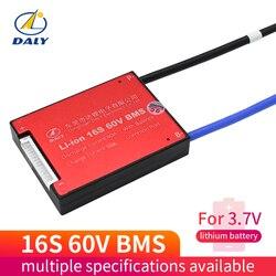Плата защиты литий-ионных аккумуляторов 16S, 60 в, 15A, 20A, 30A, 40A, 60A, 18650 мкм, с сбалансированным литиевым аккумулятором