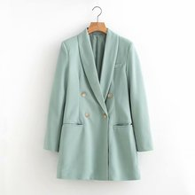 women long casual blazers 2020 autumn suit jackets notched slim solid