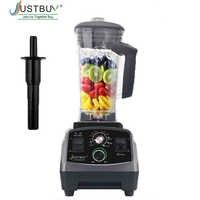 Temporizador BPA libre 3HP 2200W mezcladora licuadora comercial exprimidor de energía procesador de alimentos licuadora eléctrica de frutas