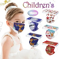 Headband masque mascarilas 10PCS Children Christmas Disposable Face Mask 3 Ply Earloop Anti-PM2.5 Mask mondmasker Маска бандана#
