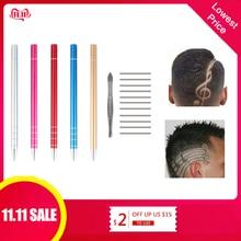5 Colors 1Pcs Salon Engraved Pen with 10Pcs Blades Professional Trimmers Hair St