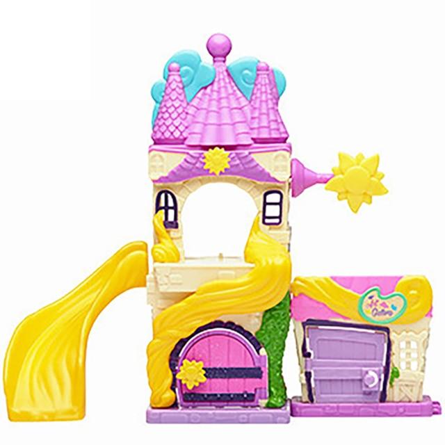 TAKARA TOMY Disney Doorables Tangled Rapunzel Princess Tale Fantasy Castle Play Slide House Mini Peek Box Girls Gift Kids Toys 2