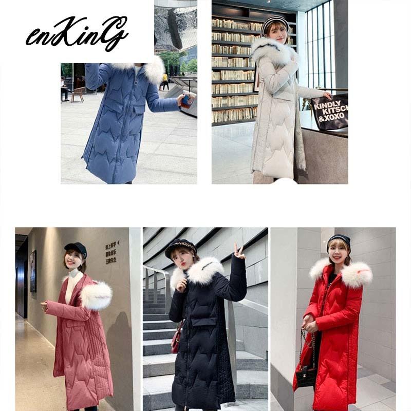Women long   parkas   coat Winter Slim Thicken warm big fur collar jacket coats Casual female winter outwear   parkas   coat