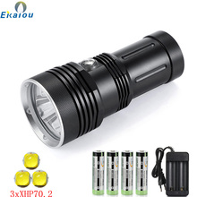 Bright-Light Underwater Tactical Xhp70.2 Led NEW 3LED 150M Professional