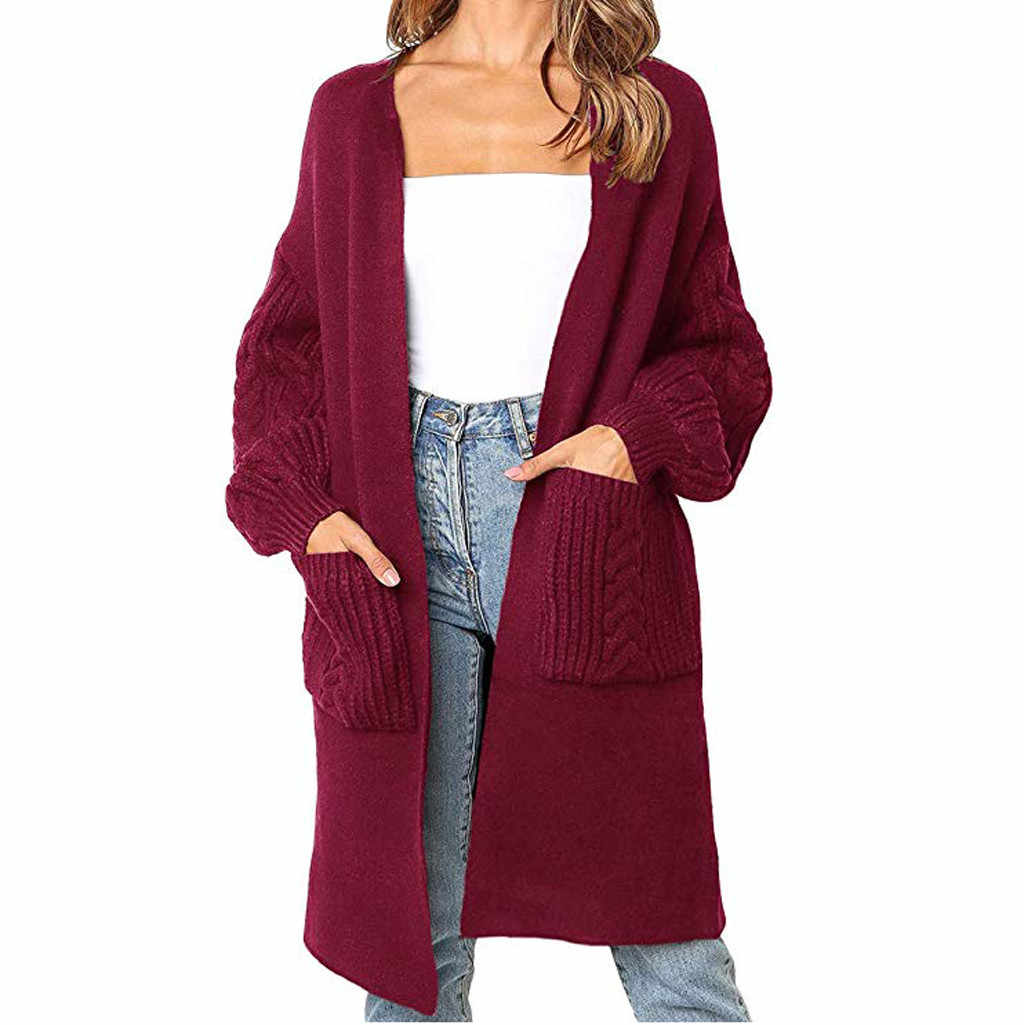 2019 herbst Winter Mode Frauen Langarm Lose Stricken Strickjacke Pullover Frauen Strickte Weibliche Strickjacke Pull Femme # J30