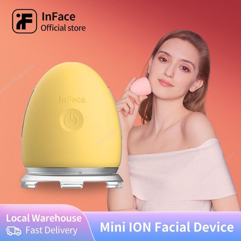 Dispositivo de cuidado Facial InFace, herramienta de cuidado Facial, masajeador de vibración táctil, eliminador sónico de arrugas, mesoterapia Facial