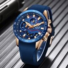 New LIGE Luxury Brand Men Fashion Sport Watch Mens Leather Waterproof Quartz Wrist Watches Male Date Clock Relogio Masculino