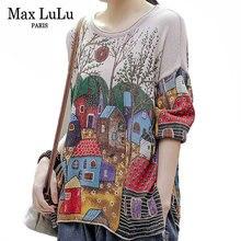 Max lulu 2020 корейские новые Модные Винтажные свитера с принтом