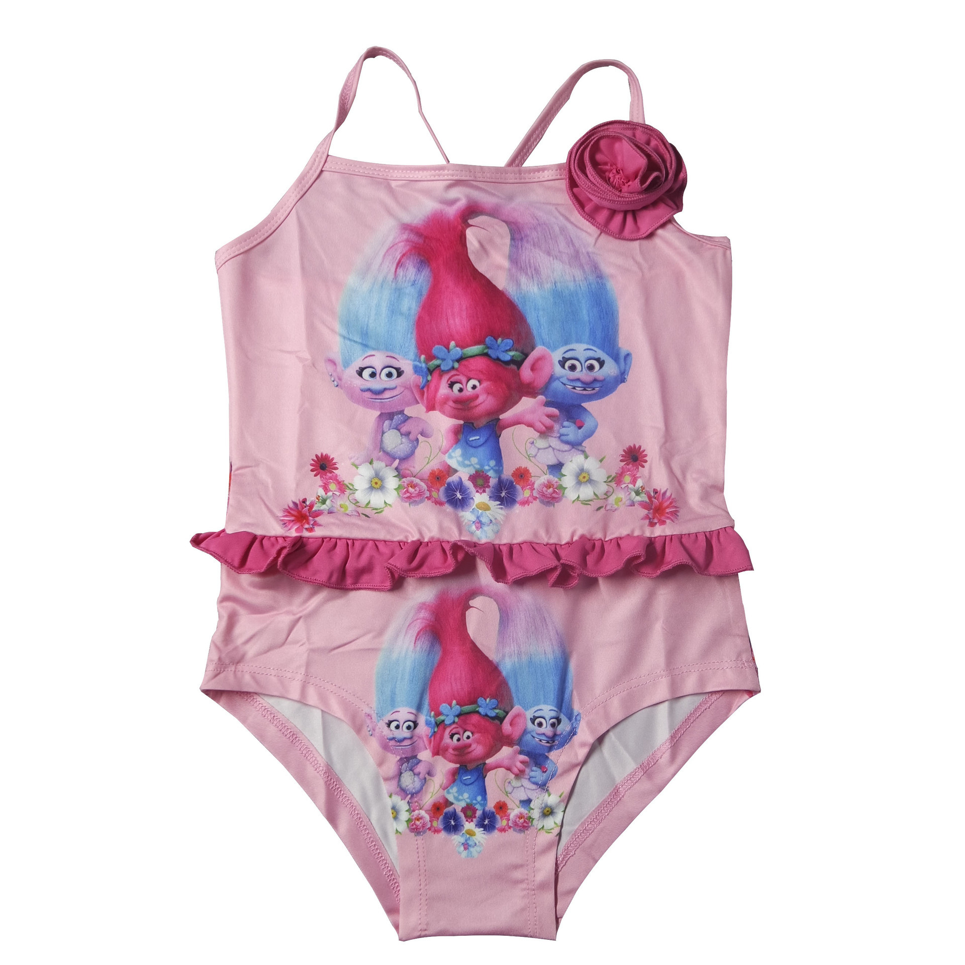 2017 Magic Elf Europe And America Bikini Backless Children One-piece Cartoon Swimwear Girls Beach Bathing Suit 1608