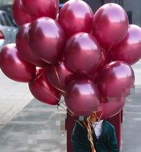30 pçs 10 polegada borgonha cinza ouro látex balões mini azul escuro festa globos chuveiro do bebê decorações de aniversário do casamento crianças fornecimento