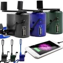 1Pc chargeur de téléphone Portable d'urgence en plein air USB charge manivelle puissance Portable Dynamo chargeur de main randonnée Camping accessoires