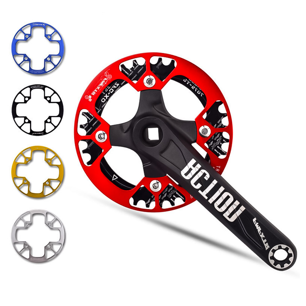 MTB Fixed Gear Cycling Mountain Bike <font><b>Sprocket</b></font> Support Market Protection Cover Large 32T/<font><b>36T</b></font>/38T/40T/42T Bicycle Crank Crankset image