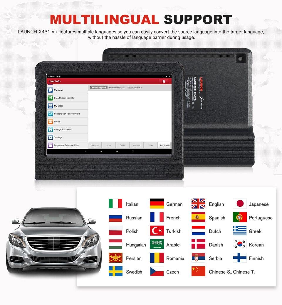 lowest price Launch X431 V Plus 10inch X431 V  V4 0 OBD2 Scanner Diagnostic Tool Automotive Scanner OBD Auto Diagnostic Tool Car OBD 2 Scanner