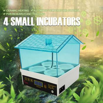 4 Egg Incubator Auto Temperature 15W Mini Egg Hatcher for Chickens Ducks Birds  incubators for hatching eggs 2017 ce approved automatic incubator high hatching rate holding 60 eggs family type mini egg incubator