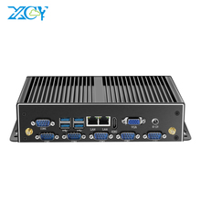 xcy intel 2955u/I5 4200U/I7 4500U/I7 5500U industry mini pc with 6*RS232/485 2*LAN HDMI VGA 8*USB Watch Dog 4G Module