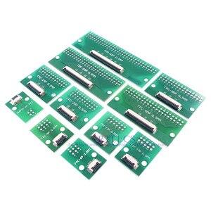 Image 3 - 20 قطعة الشركة العامة للفوسفات FFC كابل 0.5 مللي متر الملعب 4 6 8 10 12 14 16 20 24 30 40 50 60 دبوس موصل SMT محول إلى 2.54 مللي متر من خلال ثقوب DIP PCB