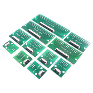 Image 3 - 20pcs FPC FFC Cavo 0.5 millimetri Passo 4 6 8 10 12 14 16 20 24 30 40 50 60 PIN Connettore SMT Adattatore per 2.54 millimetri fori passanti DIP PCB