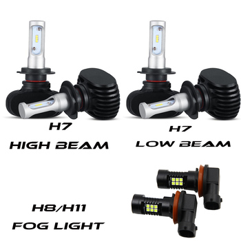 For AudiTT Quattro 2008-2012 6x Combo H7 H11 LED Headlight Fog Light H8 White Bulbs