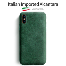 SanCore for iPhone X XS Max Phone Case artificial Leather Full protection ALCANTARA Business  Phone Shell Suede Back Cover  bag