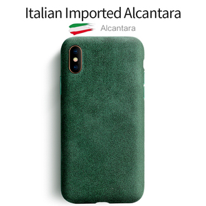 Image 1 - SanCore for iPhone X XS Max Phone Case artificial Leather Full protection ALCANTARA Business  Phone Shell Suede Back Cover  bag