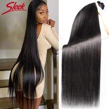 Elegante em linha reta tecer cabelo brasileiro pacotes negócio fornecedores de extensão do cabelo humano 30 32 34 36 polegadas remy 1/3/4 feixes de cabelo humano
