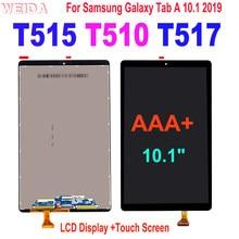 100% testado lcd para samsung galaxy tab um 10.1 2019 t510 t515 t517 SM-T515 SM-T510 display lcd de toque digitador da tela montagem