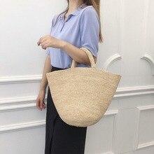 2020 Handmade Straw Bag Leisure Beach Storage Women Bags Fas
