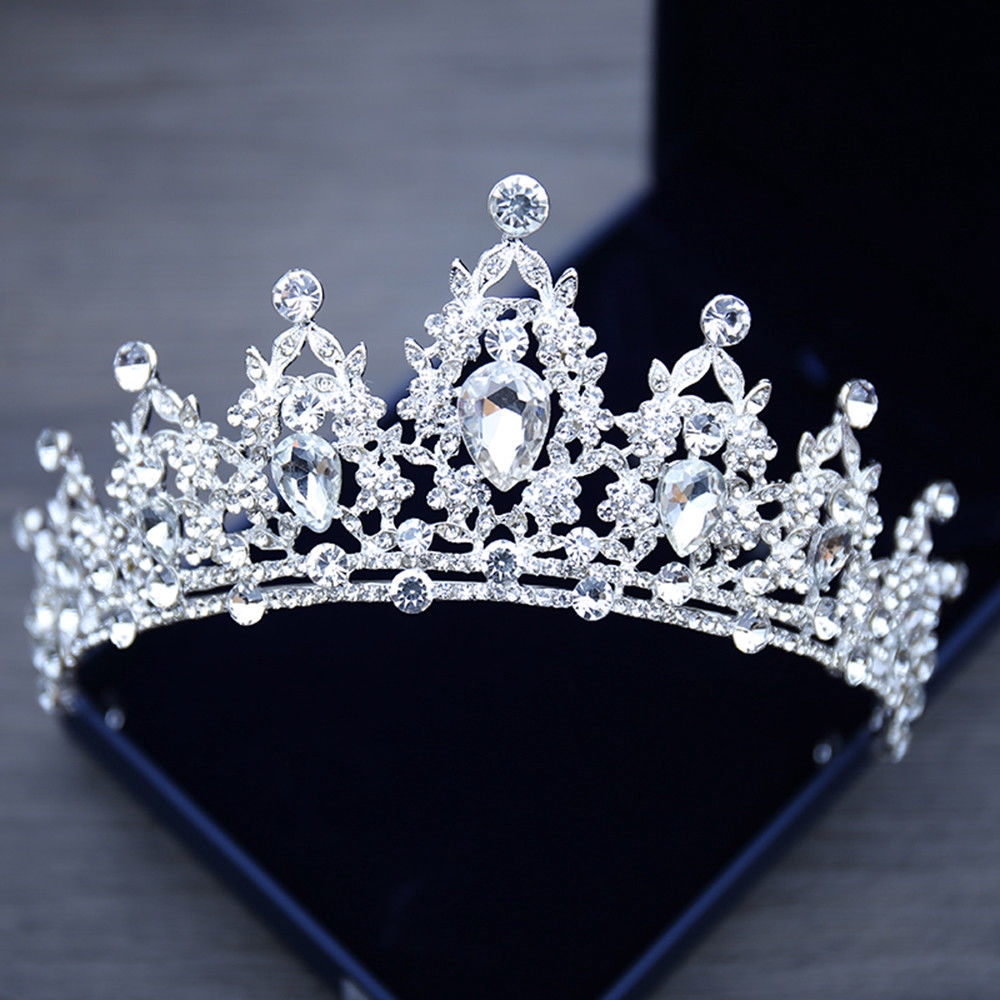 Woman Girl Crystal Tiaras Crowns Wedding Birthday Hair Accessories Festival Prom Diadem Hair Jewelry For Bides Bridemaids(China)