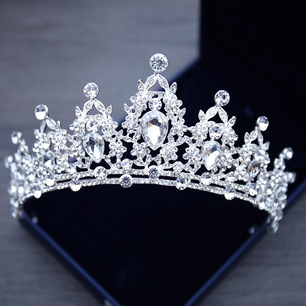 Тиары-короны женские с кристаллами, аксессуары для волос на свадьбу, день рождения, фестиваль, яркие украшения для волос