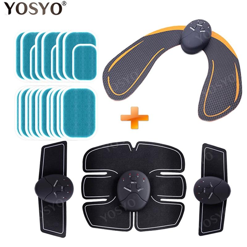 Smart EMS Hips Trainer Electric Muscle Stimulator Wireless Buttocks Abdominal ABS Stimulator Fitness Body Slimming Massager Knit|Abdominal Massage Instrument|   - AliExpress