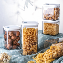 Plastic Food Storage Container Kitchen Storage Box Multigrain Storage Tank Transparent Sealed Cans Multi-capacity Organization