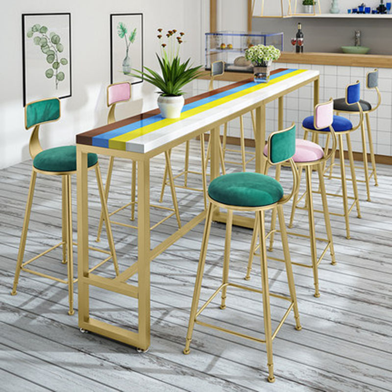 Nordic Bar Stools Ins Style Fashion Creative High Bench Modern Minimalist Chair For Family Business Bar Cafe Hotel Night Club