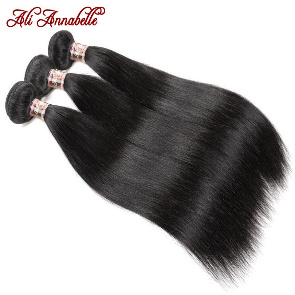 Ali annabelle pacotes retos com fecho de cabelo brasileiro tecer pacotes com fechamento hd fechamento de renda transparente livre/meio