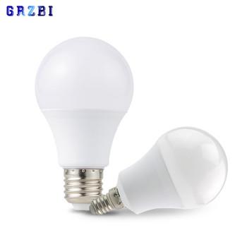 LED E27 LED lampa E14 LED żarówka AC 220V 230V 240V prawdziwa moc 20W 18W 15W 12W 9W 6W 3W Lampada reflektory LED lampa stołowa lampy światła tanie i dobre opinie GRZBI Zimny biały (5500-7000 k) led bulb 2835 SALON 500-999 lumenów Other Over 10000 hours Żarówka bańka Epistar ROHS