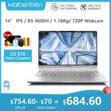 "Marka yeni MAIBENBEN dizüstü Maibook M446 【 14 ""IPS/AMD Ryzen5 4600H/DDR4 3200MHZ/PCI-E SSD/Windows10 】"